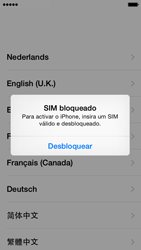 Apple iPhone 5s iOS 8 - Primeiros passos - Como ligar o telemóvel pela primeira vez -  4