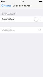 Apple iPhone 5s - Red - Seleccionar una red - Paso 5