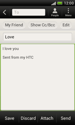 HTC T328e Desire X - Email - Sending an email message - Step 9