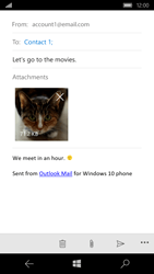 Microsoft Lumia 650 - E-mail - Sending emails - Step 15