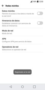 LG Q6 - Red - Seleccionar una red - Paso 10