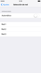 Apple iPhone 6s iOS 9 - Red - Seleccionar una red - Paso 6