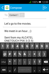Alcatel Pixi 3 - 3.5 - Email - Sending an email message - Step 10