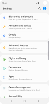 Samsung Galaxy S10 - Device - Enable Find my Phone - Step 4
