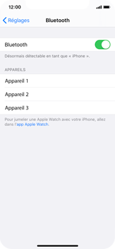 Apple iPhone XS - iOS 13 - Bluetooth - Jumeler avec un appareil - Étape 5