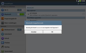 Samsung P5220 Galaxy Tab 3 10-1 LTE - Bluetooth - Koppelen met ander apparaat - Stap 7