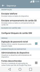 LG C70 / SPIRIT - Segurança - Como ativar o código PIN do cartão de telemóvel -  6