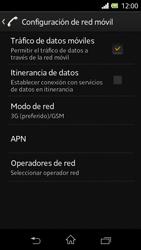 Sony Xperia L - Red - Seleccionar el tipo de red - Paso 6
