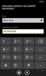 Nokia Lumia 635 - Contact, Appels, SMS/MMS - Ajouter un contact - Étape 6