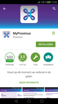 Huawei Mate S - Applicaties - MyProximus - Stap 7