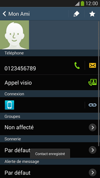 Samsung Galaxy Note 3 - Contact, Appels, SMS/MMS - Ajouter un contact - Étape 8