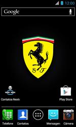 Motorola XT621 Primus Ferrari - Rede móvel - Como ativar e desativar uma rede de dados - Etapa 1