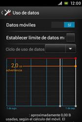 Sony Xperia E - Internet - Ver uso de datos - Paso 8