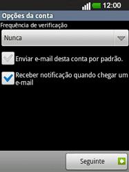 LG E400 - Email - Configurar a conta de Email -  22