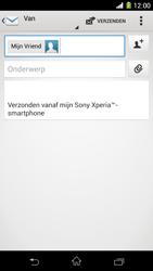 Sony Xperia Z1 4G (C6903) - E-mail - Hoe te versturen - Stap 8