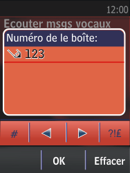 Nokia Asha 300 - Messagerie vocale - configuration manuelle - Étape 7