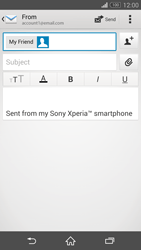 Sony D6603 Xperia Z3 - E-mail - Sending emails - Step 8