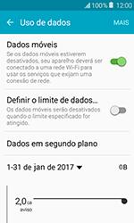 Samsung Galaxy J1 - Rede móvel - Como ativar e desativar uma rede de dados - Etapa 5