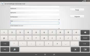 Sony Xperia Tablet Z2 (SGP521) - E-mail - e-mail instellen: POP3 - Stap 10