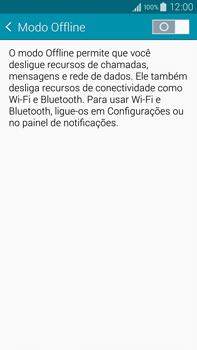 Samsung N910F Galaxy Note 4 - Rede móvel - Como ativar e desativar o modo avião no seu aparelho - Etapa 5