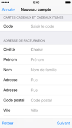 Apple iPhone 5s - iOS 8 - Applications - Créer un compte - Étape 21