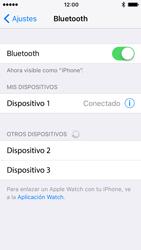 Apple iPhone SE iOS 10 - Bluetooth - Conectar dispositivos a través de Bluetooth - Paso 6
