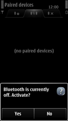Nokia 500 - Bluetooth - Pair with another device - Step 8