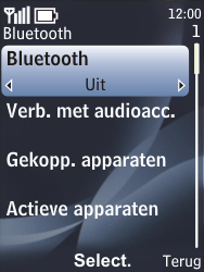 Nokia 6700 classic - bluetooth - aanzetten - stap 6