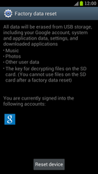 Samsung I9300 Galaxy S III - Device - Reset to factory settings - Step 7
