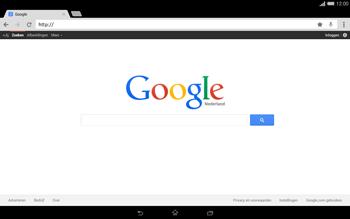 Sony Xperia Tablet Z2 4G (SGP521) - Internet - Hoe te internetten - Stap 11