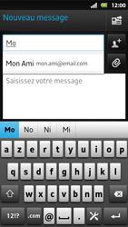 Sony MT27i Xperia Sola - E-mail - Envoi d