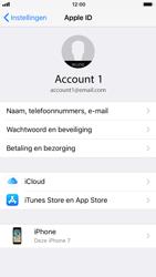 Apple iPhone 7 iOS 11 - Beveiliging en ouderlijk toezicht - iCloud synchroniseren - Stap 4