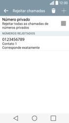 LG Y50 / LEON - Chamadas - Como bloquear chamadas de um número -  11