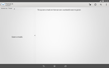 Sony Xperia Tablet Z2 (SGP521) - E-mail - e-mail instellen: POP3 - Stap 18