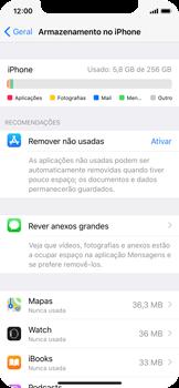 Apple iPhone X - Gestão de espaço - Como gestão automática de aplicações não utilizadas -  5