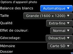 BlackBerry curve 3G - Photos, vidéos, musique - Prendre une photo - Étape 7