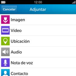 BlackBerry Q5 - Mensajería - Escribir y enviar un mensaje multimedia - Paso 10