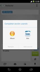 Sony Xperia Z1 - Mensajería - Escribir y enviar un mensaje multimedia - Paso 16