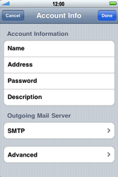 Apple iPhone 3G S - Email - Manual configuration - Step 15