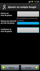Sony Ericsson Xpéria Arc - Premiers pas - Créer un compte - Étape 16