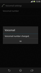 Sony C6603 Xperia Z - Voicemail - Manual configuration - Step 9