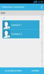 Huawei Ascend Y300 - Contacten en data - Contacten kopiëren van SIM naar toestel - Stap 7