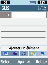 Samsung C3590 - Contact, Appels, SMS/MMS - Envoyer un SMS - Étape 4