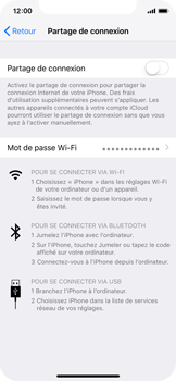 Apple iPhone XS - Internet - comment configurer un point d'accès mobile - Étape 6
