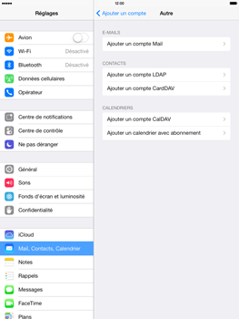 Apple iPad 4th generation iOS 7 - E-mail - Configurer l