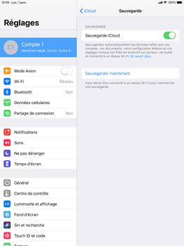 Apple iPad 9.7 (2018) iOS12 - Données - créer une sauvegarde avec votre compte - Étape 12