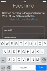 Apple iPhone 4S met iOS 7 (Model A1387) - Applicaties - FaceTime gebruiken - Stap 5