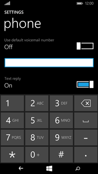 Microsoft Lumia 640 XL - Voicemail - Manual configuration - Step 8
