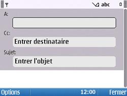 Nokia E5-00 - E-mail - Envoi d