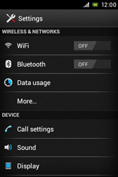 Sony ST23i Xperia Miro - Internet - Enable or disable - Step 4